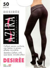 Collant seamless invisible with lace band all nude Azira Desiree 50