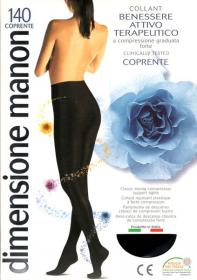 CABIFI-Collant Manon 140 ORO riposante COPRENTE a compressione ... 199955673b0