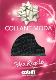 Collant LUREX Cabifi, collant coprenti e brillanti nero argento