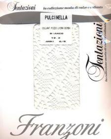 FRANZONI Collant pizzo per bambina Pulcinella colore Bianco